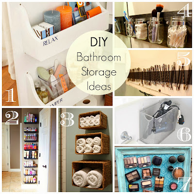 Saturday's Seven - Bathroom Organization and Storage Ideas