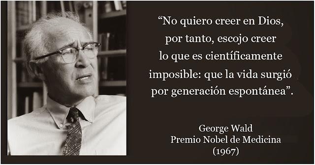 citas ciencia y fe george wald
