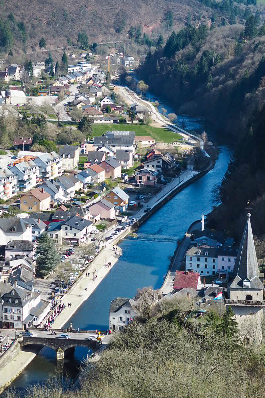 Aerial view of Vianden, Luxembourg