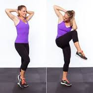 HIIT Workout for Beginners - standing crisscross crunches