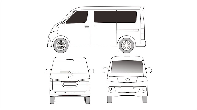 Template Branding Daihatsu Luxio Grandmax Blueprint Coreldraw