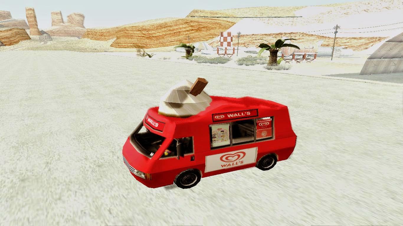 Mobil Es Krim Walls + Sound Gta San Andreas