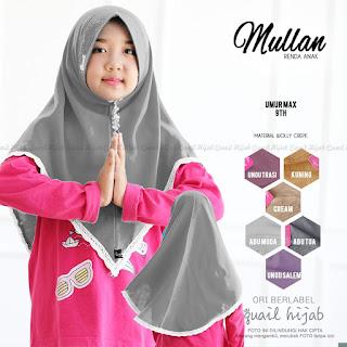 mullan renda anak quail hijab