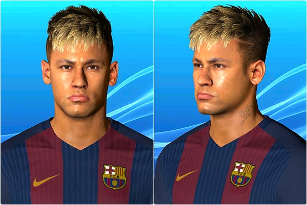 Neymar Face with Blonde Hair PES 2017