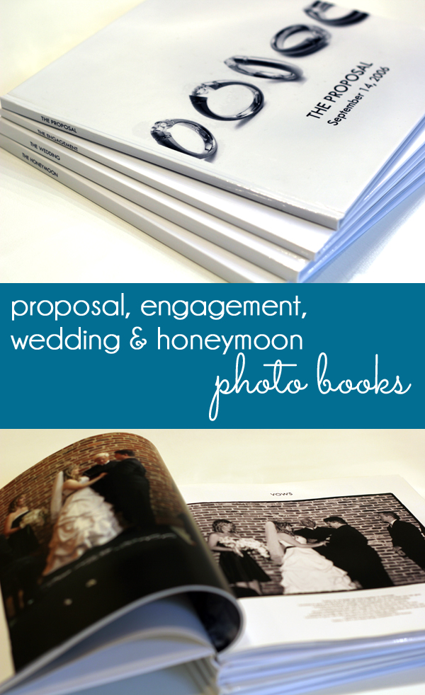 Proposal, Engagement, Wedding and Honeymoon Photo Books