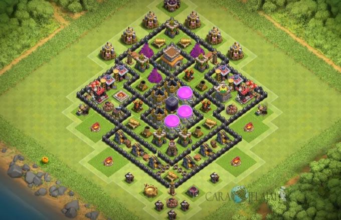 Base Farming TH 8 Clash Of Clans Terbaru 2017 tipe 18