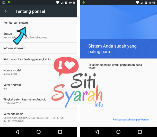 fungsi update android