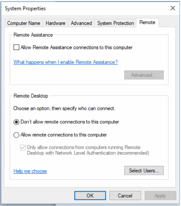 Remote Desktop Not Showing On System Properties Windows  Home