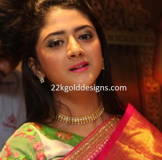 Shriya Sharma in Kundan Choker Necklace