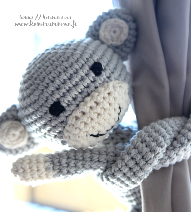 virkattu apina crochet monkey