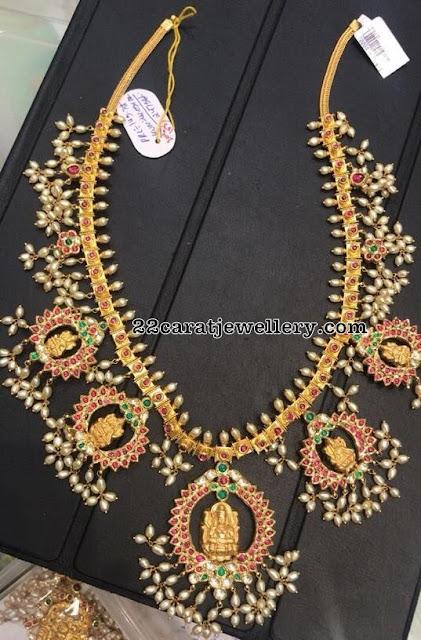 Heavy Lakshmi Guttapusalu Necklaces