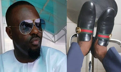 jim iyke fake gucci shoes