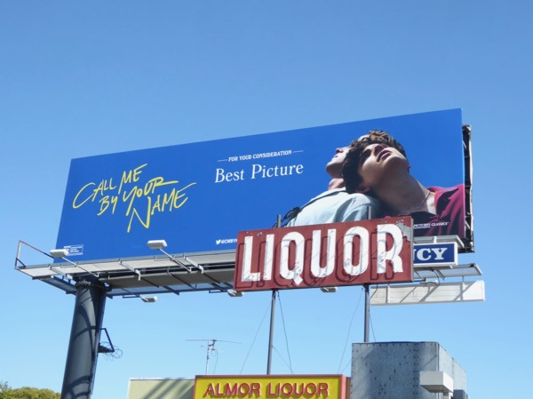 Call Me By Your Name movie billboard