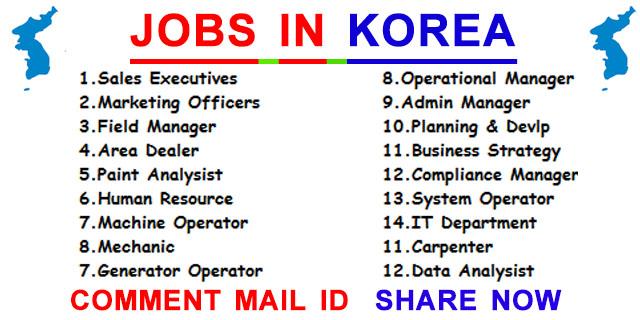JOBS IN KOREA ~ JOB VACANCY