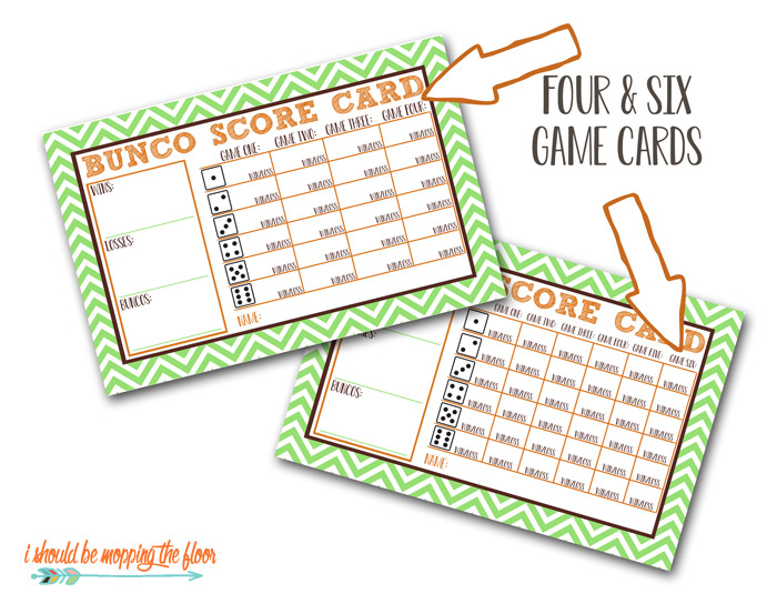 Bunco Score Cards