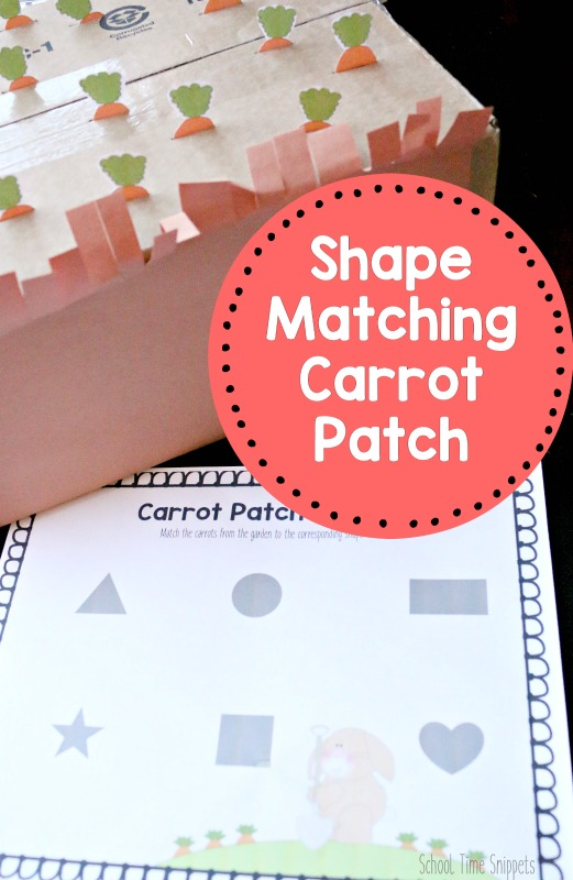 carrot shape matching Peter Rabbit activity