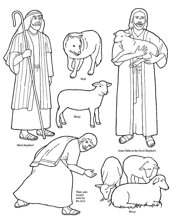 jesus the sheperd coloring pages | New Testament -- Gospel Doctrine: coloring page for good ...