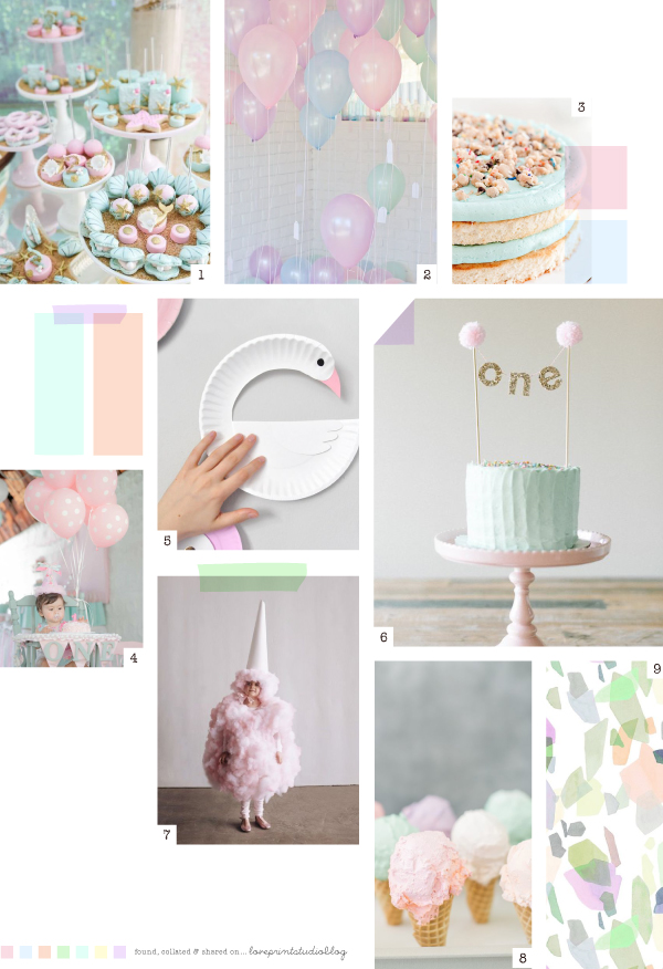 Regular Girl Wallpapers Midweek Moodboard Cotton Candy Party Love Print