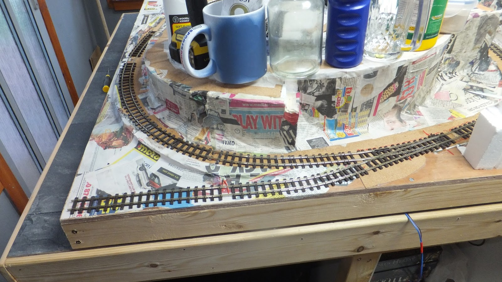 Lewis Lake Model Railroad Track Laying And Point Wiring Well A Lot Has Been Happening Over The Past Few Weeks I Have Of Papermashie Base On Now Finally Started To Lay Fit Points