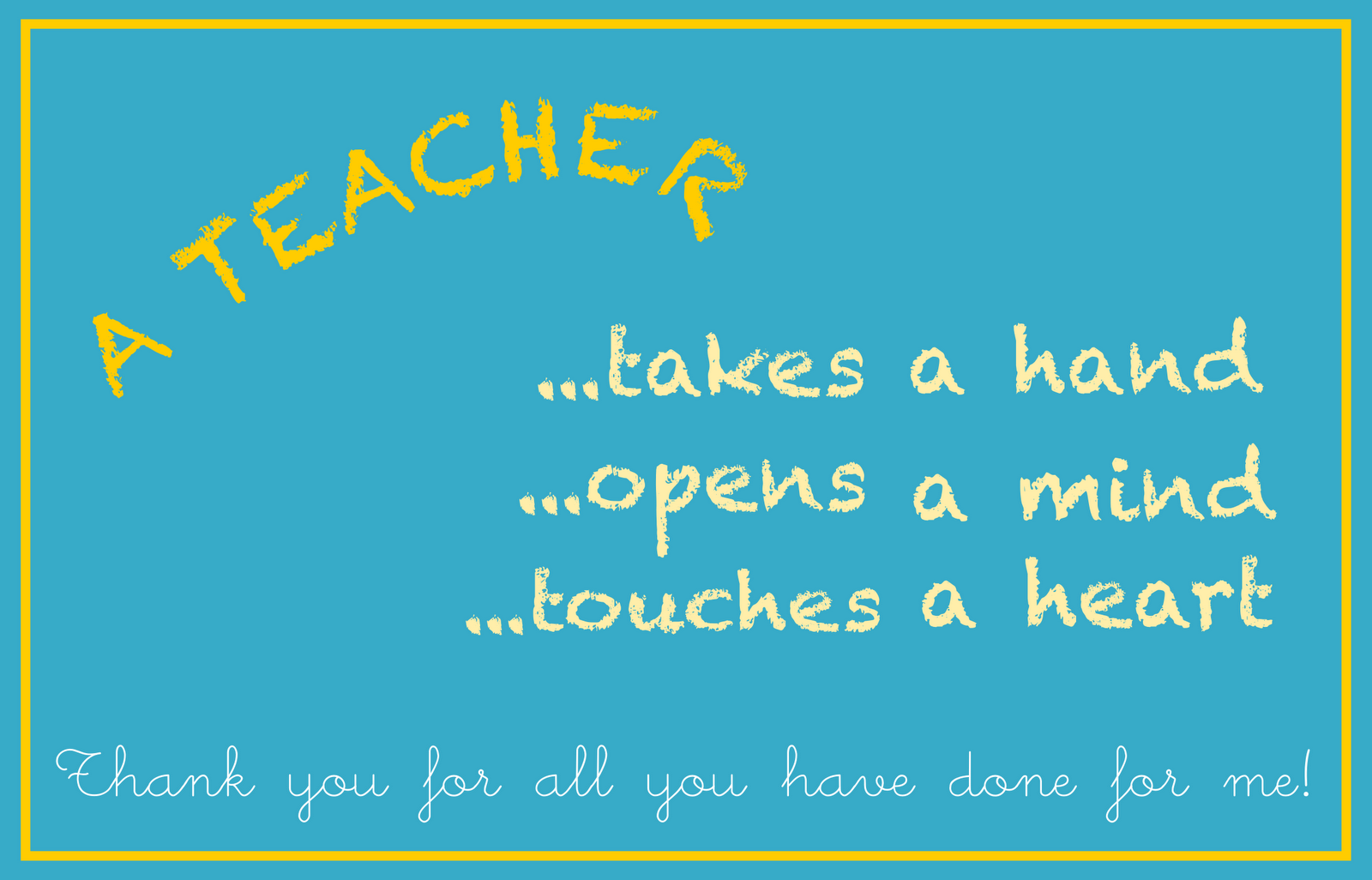 free printable teacher appreciation card - an Lehrer ...