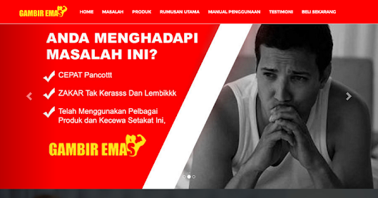 Gambir Emas Scroll One page Template