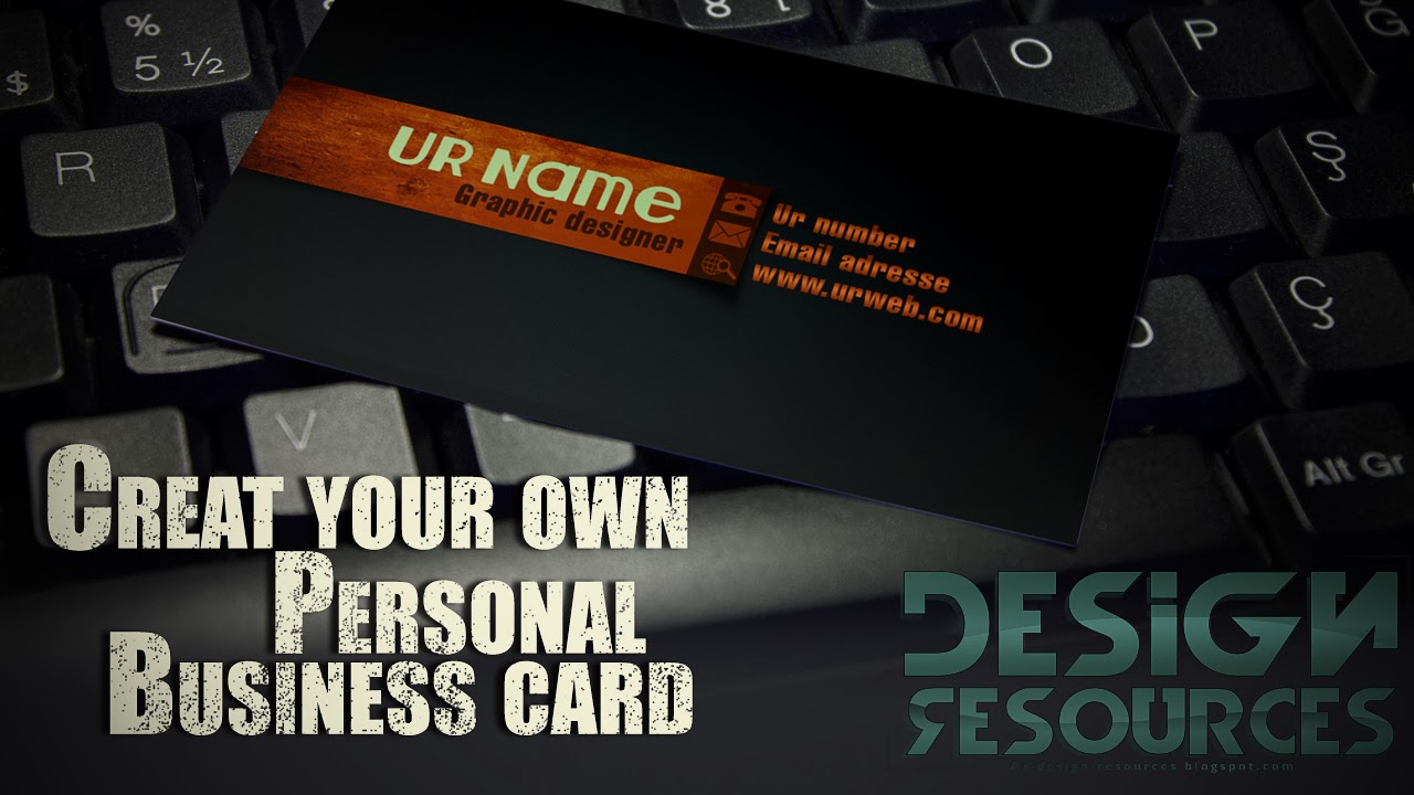How to creat a Graphic designer Business Card in Photoshop CS6 ( PSD)