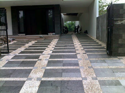 Tukang Batu Sikat - Lantai Carport Batu Alam Andesit