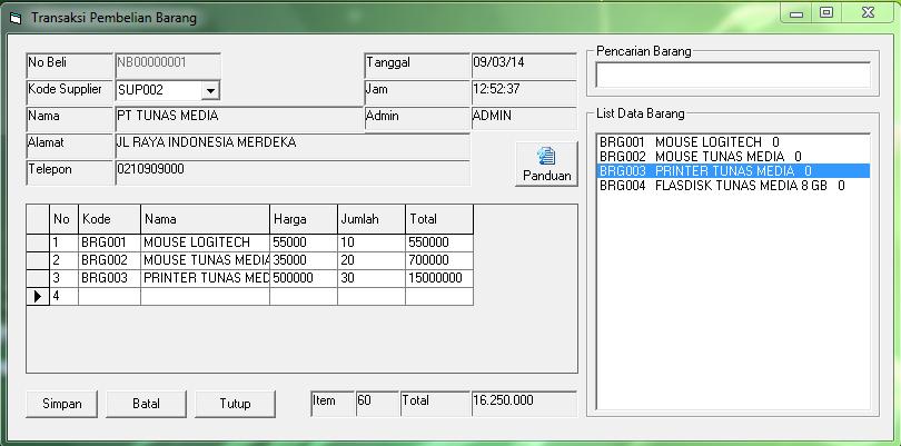 Download Program Aplikasi Pembelian Menggunakan VB 6.0