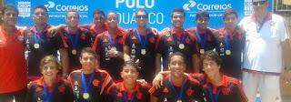 CR Flamengo Campeão da Copa Brasil Júnior Masculina de Polo Aquático de 2015