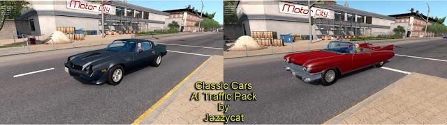 ats classic cars ai traffic pack v2.8 screenshots 1, Cadillac Eldorado Biarritz '59, Chevrolet Camaro '79