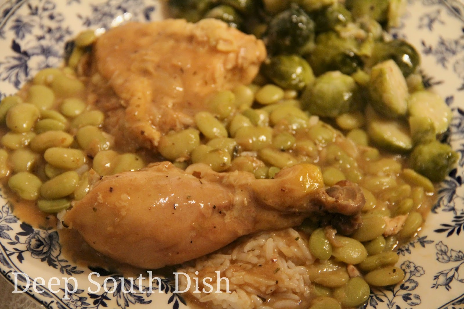 Deep South Dish Chicken And Butter Beans