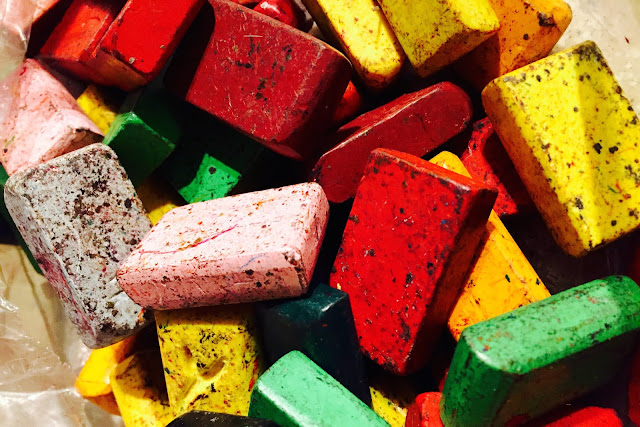 How to clean block crayons
