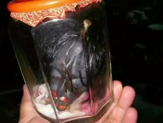 SHOCKING! This Head of an Alleged Female Vampiric Ghost 'Pontianak' Has Been Captured and Preserved in a Jar! Must See!