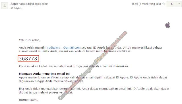 verifikasi apple id tanpa kartu kredit
