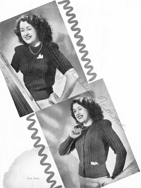 The Vintage Pattern Files : Free 1940's Knitting Pattern - Twinset in Rib