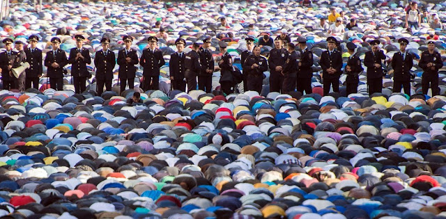 Moscow, Russia Eid Al Adha prayers in 2016