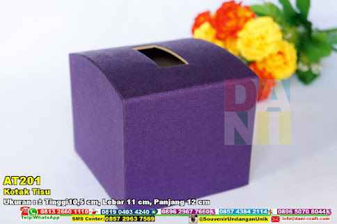 Kotak Tisu Cembung Motif Jasmine Purple Ukuran Kecil