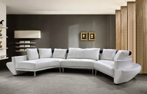 Curved Contemporary Sofa Living Room