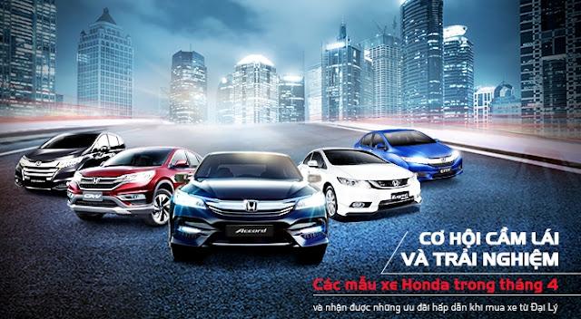 Bảng giá xe Ô tô Honda 2016 tại Việt Nam cập nhật mới nhất