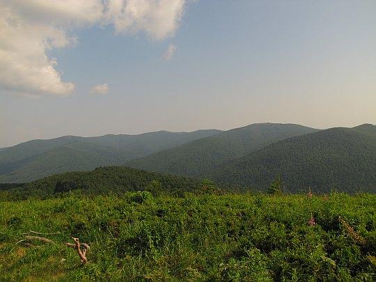 Panorama z Fereczatej na południe.