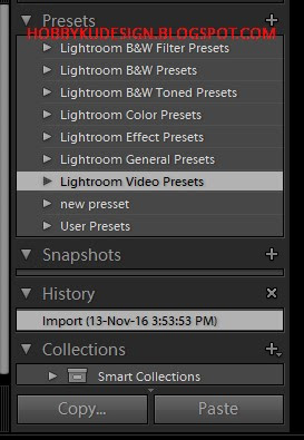 User Preset pada Lightroom