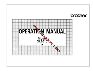 Sewing Machine Instruction Manuals: Brother XL2010 Sewing