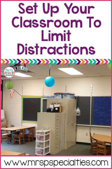 Set up your classroom in a way that promotes on task behavior