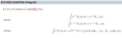 Integrals of Modified Bessel Functions, from the Digital Library of Mathematical Functions.