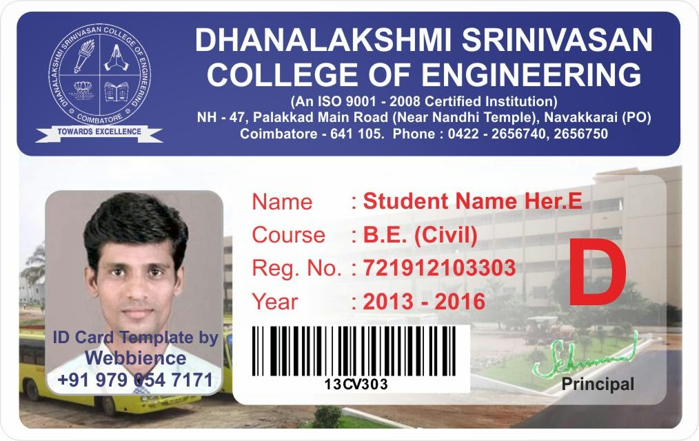 student identification card template - Blackdgfitness - student identification card