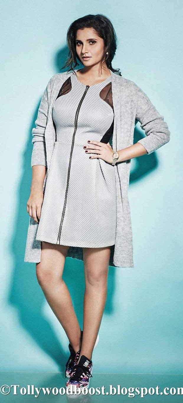 Tennis Player Sania Mirza Photo Shoot In White Top 2017