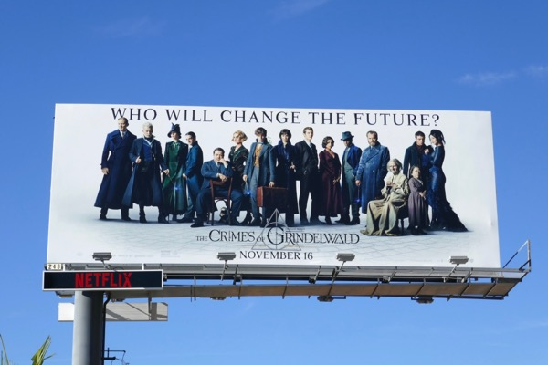 Fantastic Beasts Crimes of Grindelwald movie billboard
