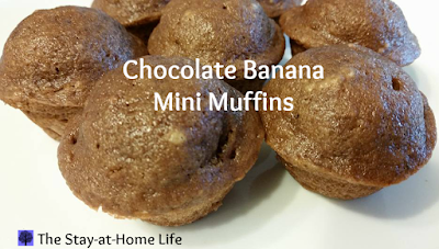 banana, chocolate chip, banana chocolate chip, chocolate banana muffins, chocolate banana mini muffins