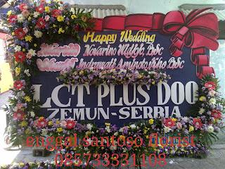 papan bunga ucapan pernikahan