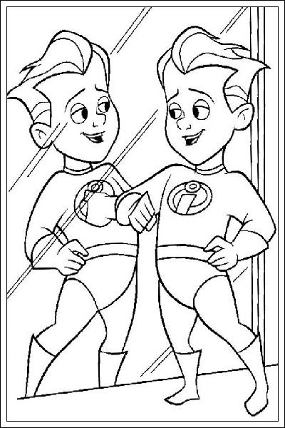 Superhelden Ausmalbilder Zum Ausdrucken Kostenlos: Ausmalbilder The Incredibles Zum Drucken